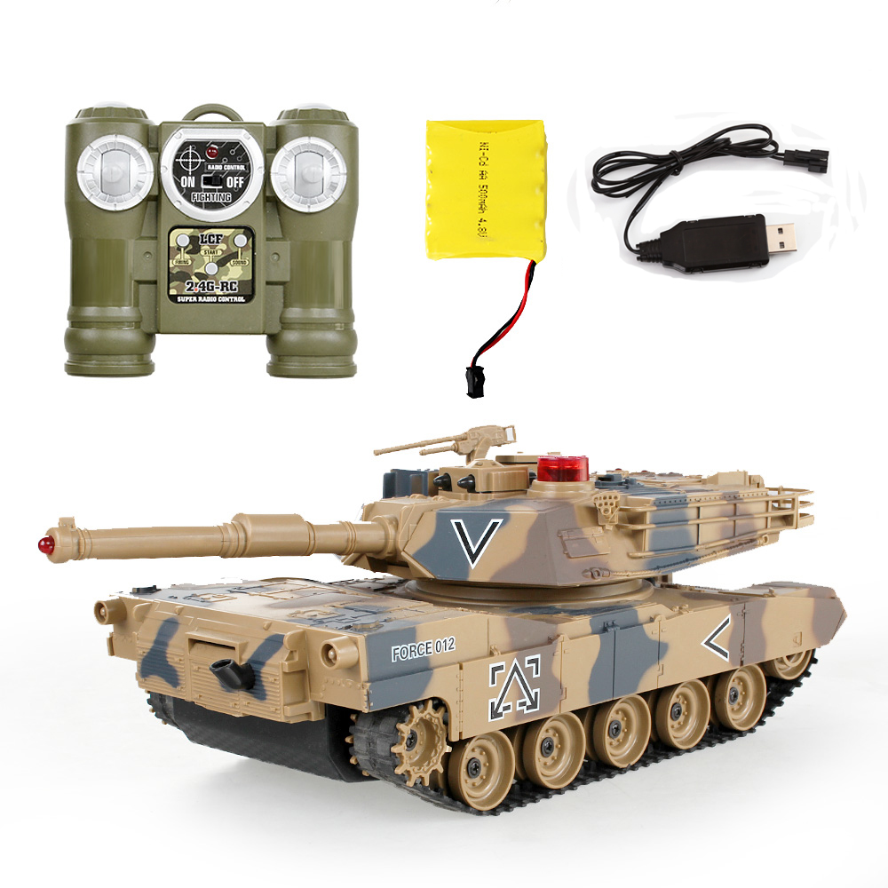 2016 Top rezervor de control la distanță împotriva RC Rezervoare părinte-copil împotriva infraroșu Telecomandă cu turelă Model de rezervor Bătălia jucărie mașină