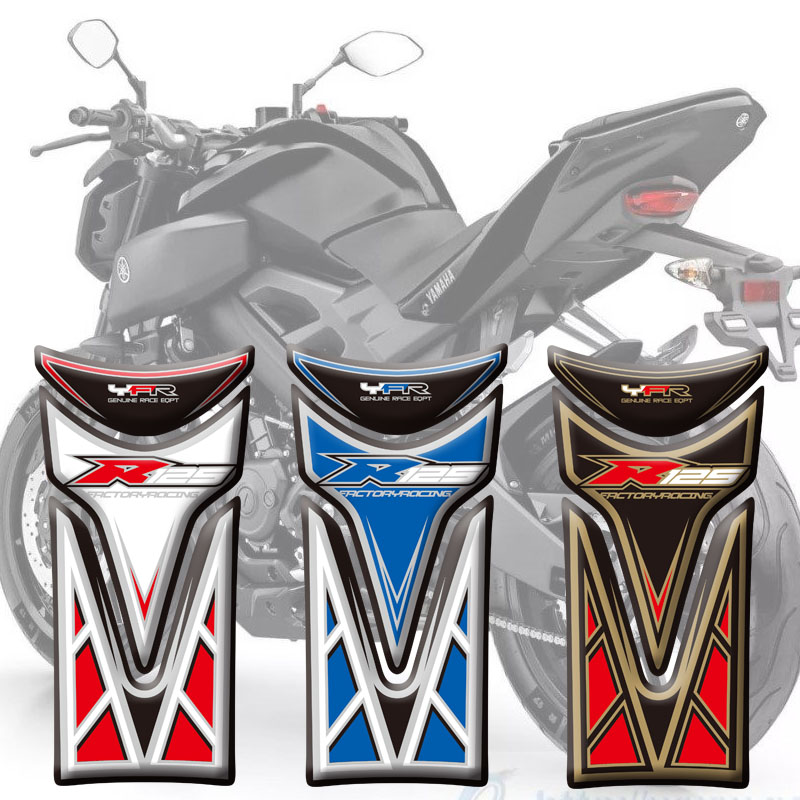 Motorcycle Stickers High Quality Fuel Tank Sticker Fishbone Protective Decals 3D Tank Pad For Yamaha YZF R125 2008 - 2016