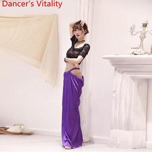 Image 4 - Oryantal oryantal dans uygulama elbise 2019 yeni dantel üst uzun etek 2 adet Set hint dans giymek acemi yarışması kostüm