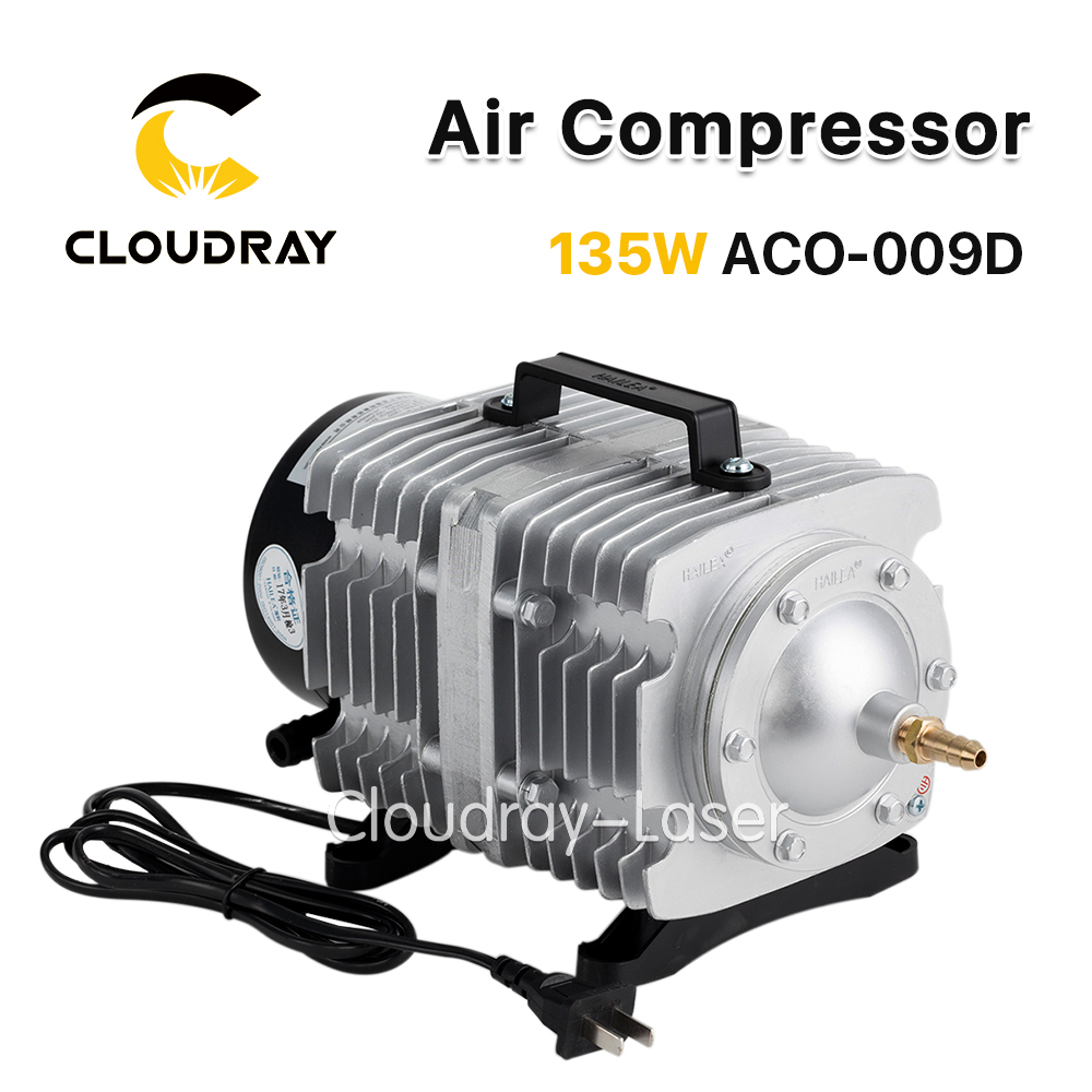 Cloudray 135W Air Compressor Electrical Magnetic Air Pump for CO2 Laser Engraving Cutting Machine ACO-009D oil free air compressor high pressure gas pump spray woodworking air compressor small pump 3 1100 100l