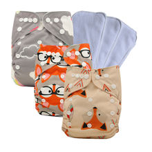 Unisex Baby Washable Reusable Cloth Pocket Nappy Diaper One Size Pocket Cloth Diaper Baby Shower Gifts(China)