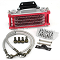 Universal Motorcycle Oil Cooler Radiator & CNC Plate cooling 110CC