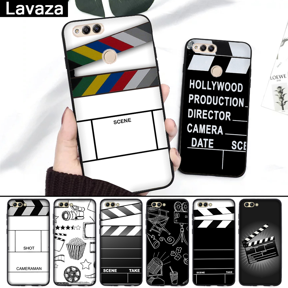 Lavaza Film Clapperboard Clapper Board Luxury Silicone Case for Huawei Honor 6A 7A 3GB Pro 7X 8 Lite 8X 8C 9 Note 10View 20 9X in Fitted Cases from Cellphones Telecommunications