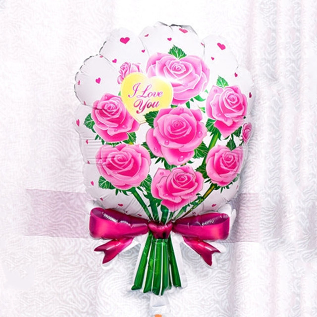 Online Shop Lover Rose balloon bouquet shape balloons birthday party ...