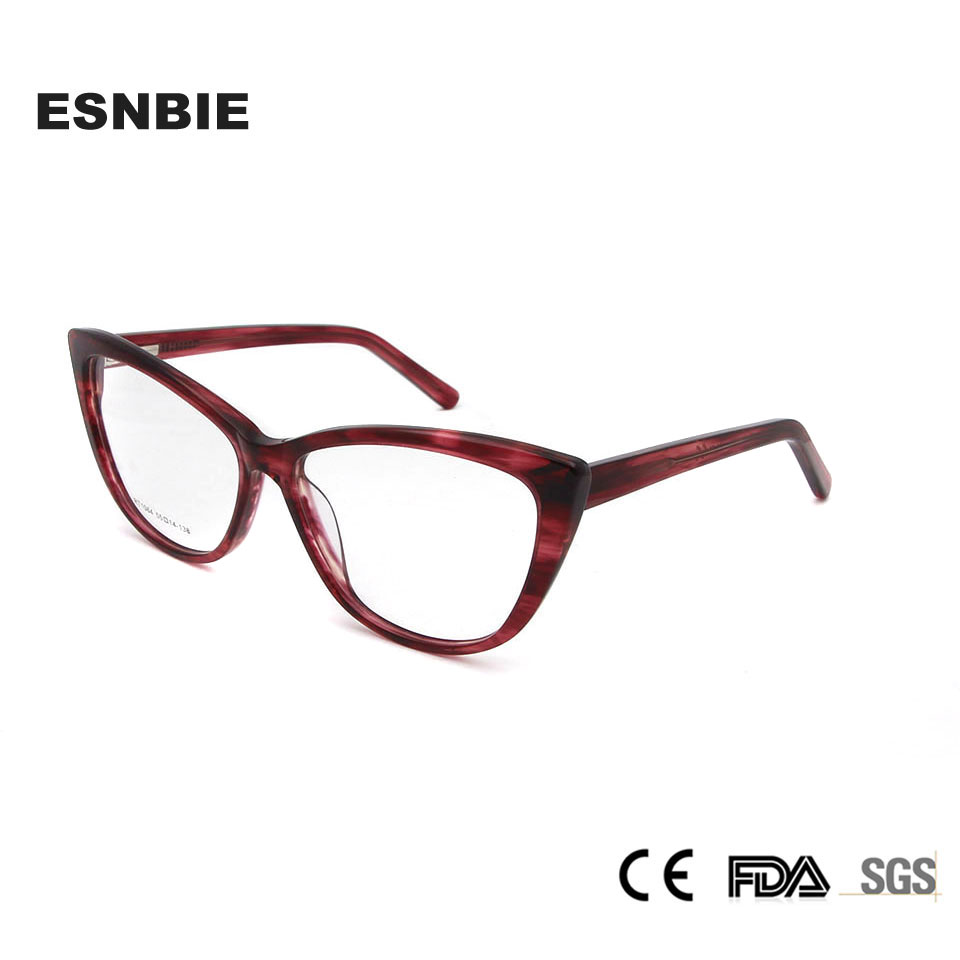 e22fd613cc38 Luxury Acetate Eyeglasses Women Frame Cat Eye Glasses Frames For Women  Trending Woman Glasses Optical Frame Lentes Opticos Mujer