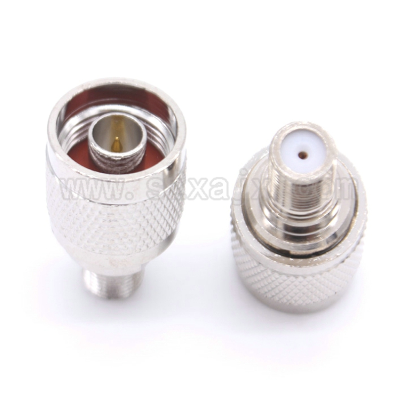 JX connector RUS Stock 20PCS RF coaxial coax adapter N to F connector N male Plug to F female Jack connector free shipping