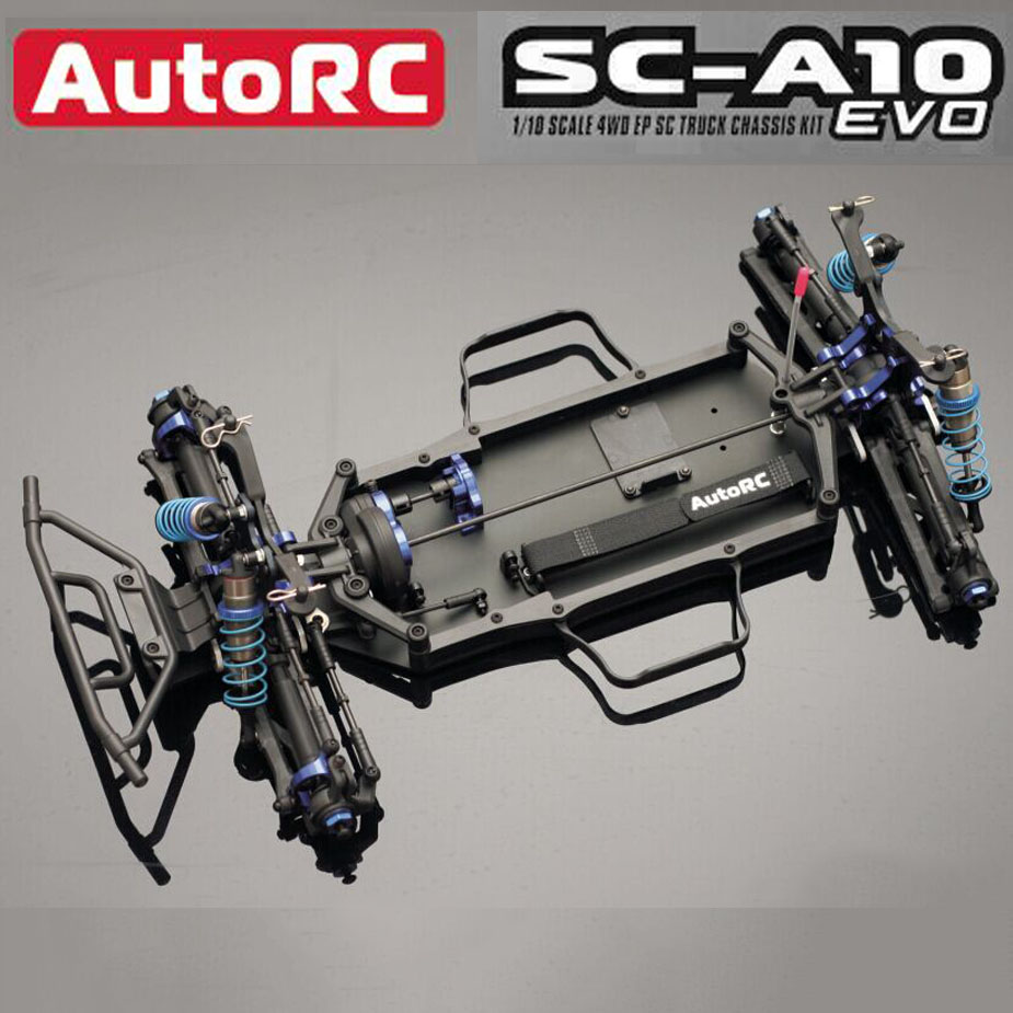NEW AutoRC SC A10 EVO short track frame 50% KIT 1/10 4WD Off Road remote controlelectric track Frame RCcar rc racing cars