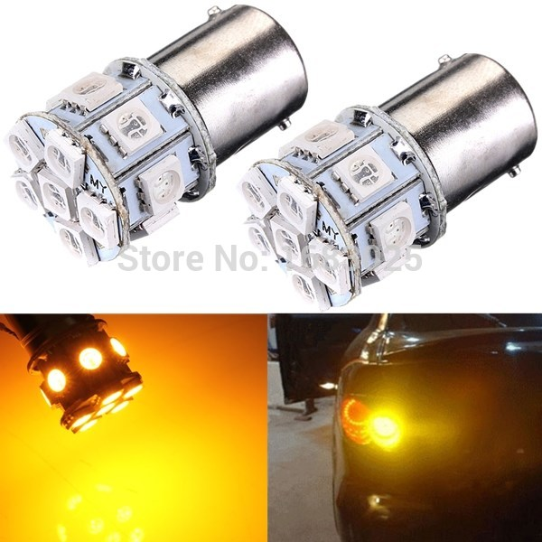 Best Price 1156 BA15S 13 LED 5050 SMD Amber Yellow Car Auto Light Source Turn Signal Lamp Parking Bulb DC12V 2PCS 1056 auto bulbs py21w s25 led 3014 smd car tail bulb turn signal auto reverse lamp daytime running light amber white yellow