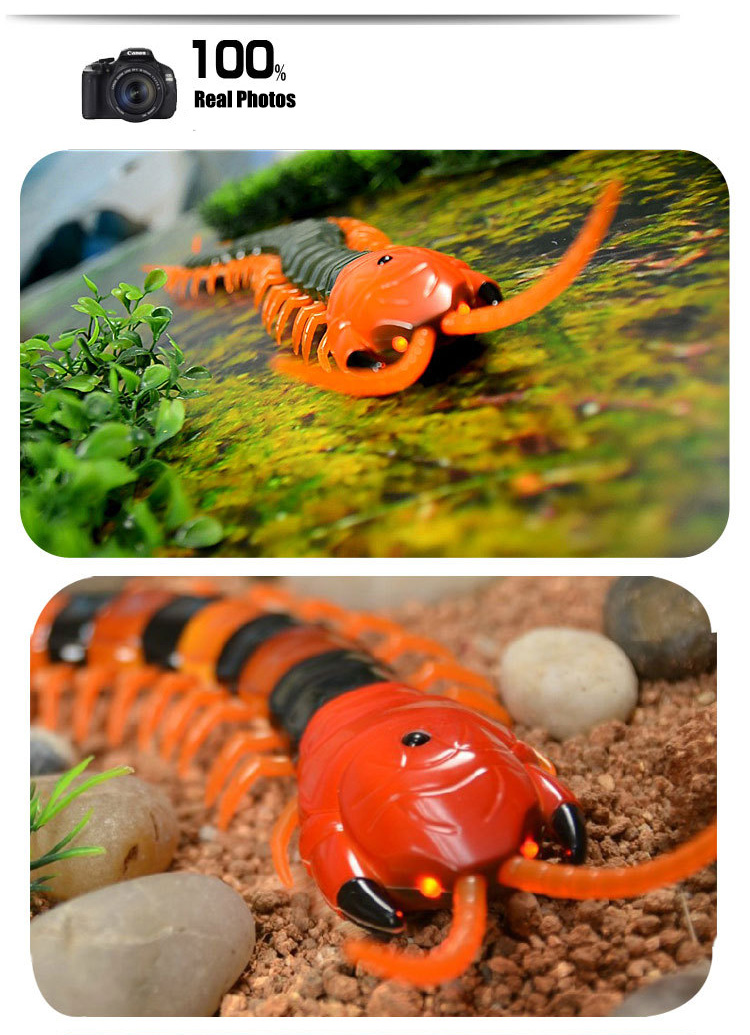 Dog Toy Electric RC Centipede Fake Insect Remote Control Centipede Creative Electric Tricky Funny Cat Toy For Cat 11