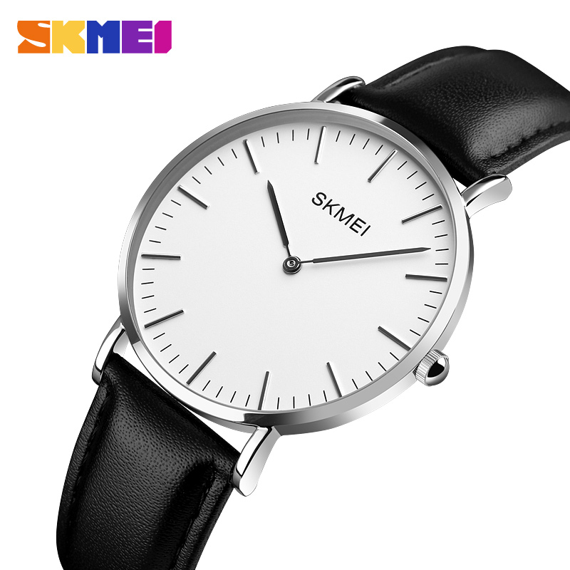 SKMEI Couple Watch Fashion Casual Ladies 2018 High Quality Slim Quartz Leather Watches Elegant Dress Ladies Watchs Montre FemmeSKMEI Couple Watch Fashion Casual Ladies 2018 High Quality Slim Quartz Leather Watches Elegant Dress Ladies Watchs Montre Femme