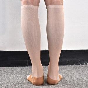 Image 2 - Calcetines graduados de compresión 20 30 mmHg presión firme circulación calidad hasta la rodilla soporte ortopédico medias calcetín de manguera