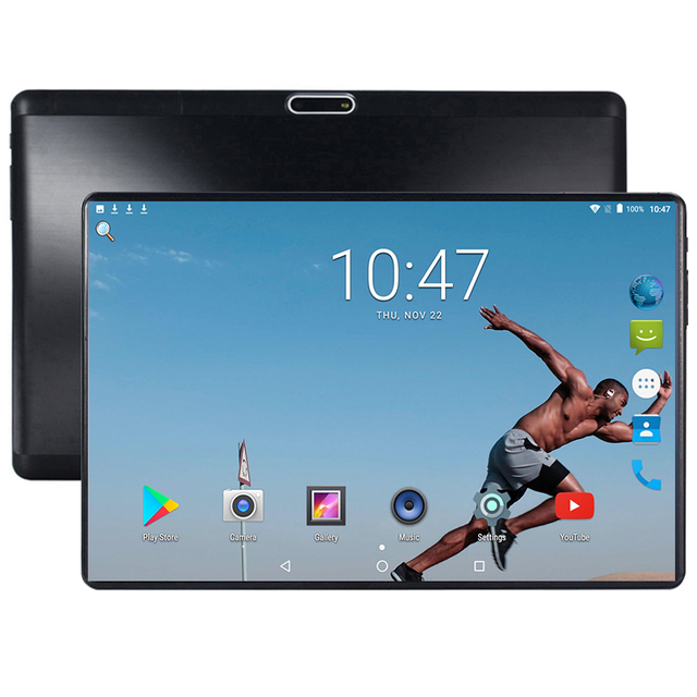 US $86 99 50% OFF|2019 Android tablet 10 inch Octa Core 3G 4G Phone Call  4GB RAM 64GB ROM 1280*800 IPS Dual Cameras Android 7 0 GPS Tablets 10 1-in