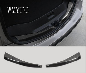 2pc For Toyota RAV4 2016 2017 2018 Stainless Interior Rear Bumper Protector Sill Tailgate Trunk Guard Cover Trim Car Accessories image