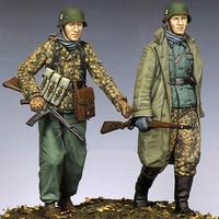 1/35 Resin Soldiers World War II Arden Battle Two Pack GK White Model Hand Military Model Scene 03