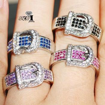 YaYI biżuteria moda księżniczka Cut 4 4 CT wielu kolorowe cyrkonie kolor srebrny pierścionki zaręczynowe obrączki ślubne pierścienie Party pierścionki 5 kolorów tanie i dobre opinie HR459 TRENDY Geometryczne Zaręczyny 10mm Zespoły weselne yayi jewelry Miedzi Kobiety Prong ustawianie Cyrkonia Good Mood