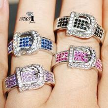 YaYI biżuteria moda księżniczka Cut 4 4 CT wielu kolorowe cyrkonie kolor srebrny pierścionki zaręczynowe obrączki ślubne pierścienie Party pierścionki 5 kolorów tanie tanio HR459 TRENDY Geometryczne Zaręczyny 10mm Zespoły weselne yayi jewelry Miedzi Kobiety Prong ustawianie Cyrkonia Good Mood