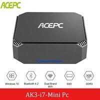ACEPC CK3 Core i7 4500U Mini PC Windows 10 Linux Mini PC Desktop Computer Intel Win10 PK CK2 i7 WIFI2.4G&5G HDMI