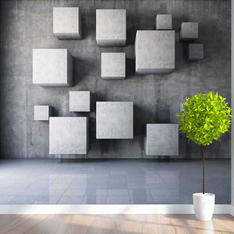 Delightful Customized Any Size Modern 3D Stereoscopic Geometry Wall Paper Office  Living Room Bedroom Background 3D Mural