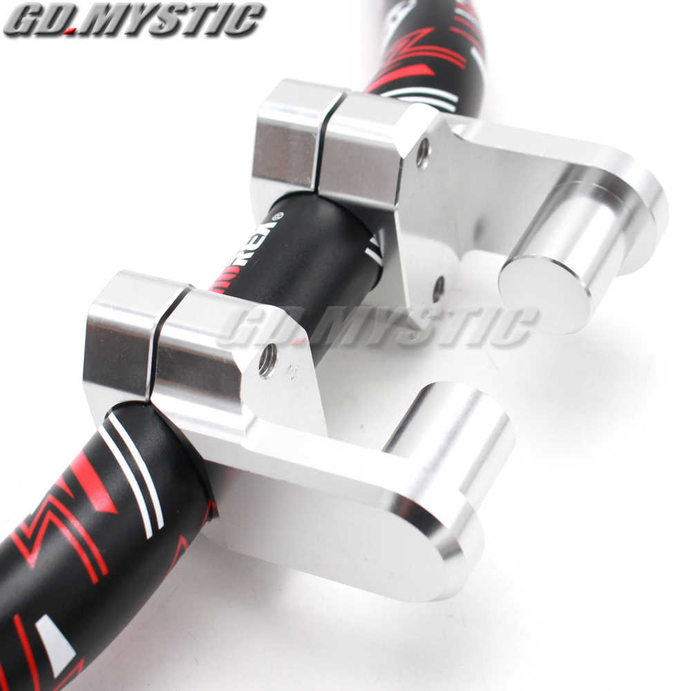 APE Racing Billet Aluminum Universal Motorcycle 2 Raise Clamps For 7//8 or 1 1//8 Handlebars Mount To oversize 1 1//8 Stem Clamp Pivoting Handlebar Clamp Risers