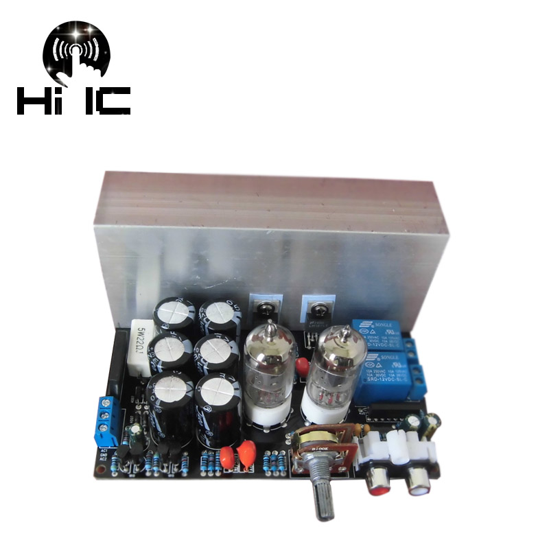 HIFI LM1875T Stereo Tube Amplifiers Audio Board Amplificador Pre Amp 6J1 Valve Preamp Bile Buffer Electron 30W Dual AC12 18V-in Amplifier from Consumer Electronics    1