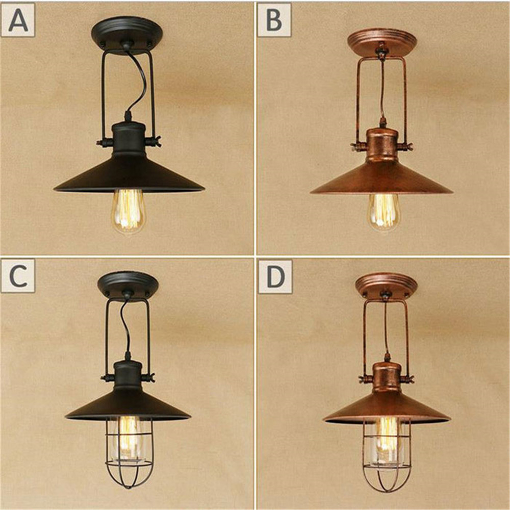 Loft Antique Ceiling Lights Vintage Industrial Lamps Home Decoration Lighting for Dinning Room/Restaurant store las luces del te