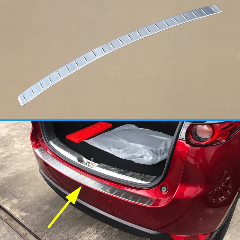 Steel Rear Bumper For 2017 2018 2019 Mazda CX 5 CX5 Trunk Tail Gate Door Sill