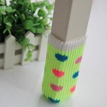 Comwarm 4 шт. геометрические Клубничные печатные мешочки на ножки стула Вязание Нескользящие напольный стол диван ноги Защитные чехлы для домашнего офиса
