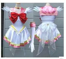 Японский Сейлор Мун Необычные костюмы Tsukino Усаги Платье для косплея комиксов-con платье любого размера