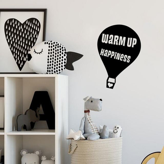 Farleopard Hot Air Balloons Wall Stickers Home Decor Living Room