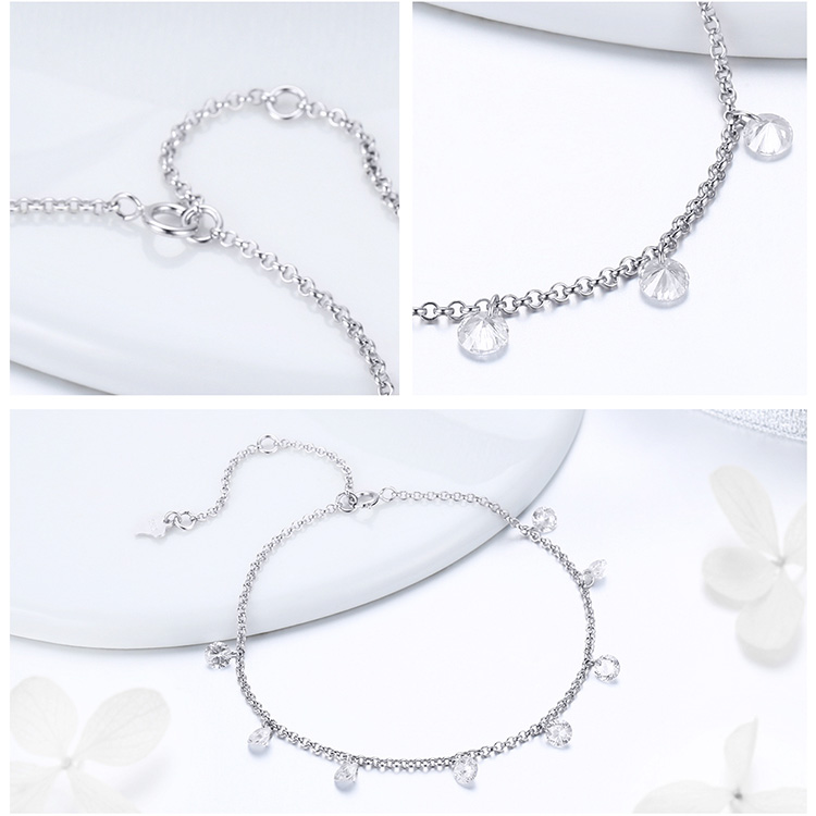 HTB1efIgw8jTBKNjSZFNq6ysFXXaV BAMOER 925 Sterling Silver Simple Geometric Crystal CZ Link Chain Bracelets & Bangles for Women Authentic Silver Jewelry SCB103