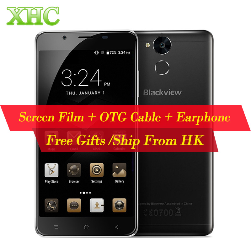 Blackview P2 Lite 32GB 6000mAh Cell Phone 5.5inch RAM 3GB Android 7.0 MTK6753 Octa Core 1.3GHz Dual SIM Fingerprint Mobile Phone
