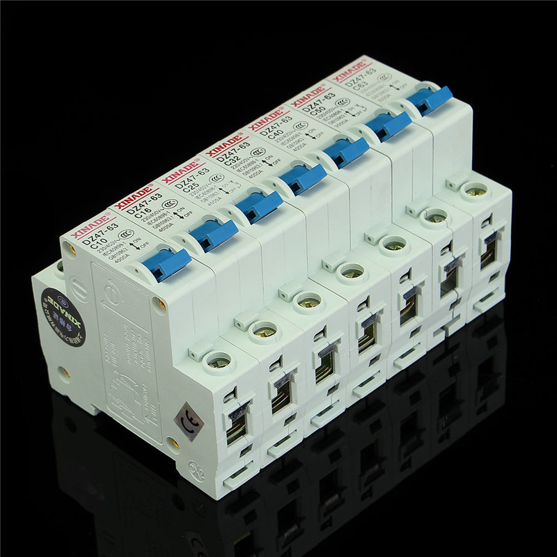 Best Miniature Circuit Breaker DZ47-63 400V 1P 10-63A Rated Current Plastic Air Switch 50HZ 10A/16A/20A/25A/32A/40A/50A/63A