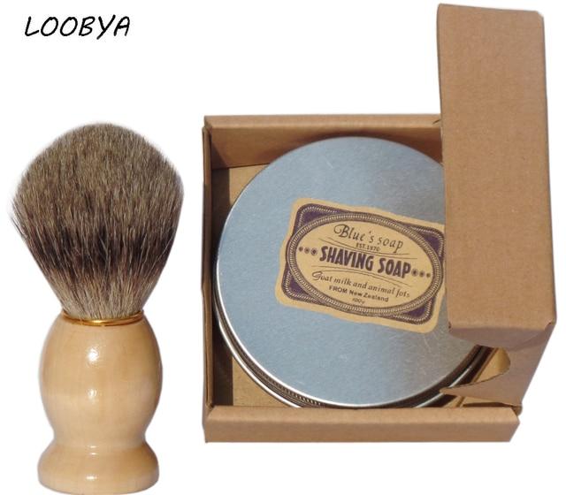 2 шт./компл. натуральное козье молоко бритья Мыло крем с Барсук Кисточки для бритья