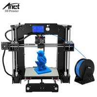 Anet A6 Reprap 3d printer Full Acrylic + Lead Screw Assembly DIY 3D Printer Kit With 1roll Filament+SD Card+Filament Holder