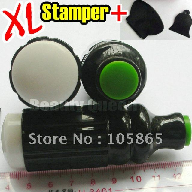 2012 NEW Silica Dual Double Sided Ended Stamp Stamper + 2pcs Scraper ...