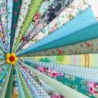 Tela hecha a mano DIY 46 Color verde Departamento impreso tela decoración del hogar artesanías ropa de artes creativas al por mayor tela de algodón - 4