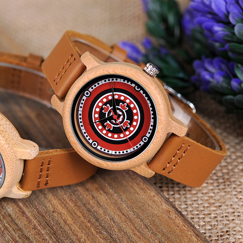 New Brand BOBO BIRD Women Watches 37mm Bamboo Pattern Ladies Quartz Wristwatch as Gifts relogio feminino
