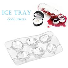 Clear Ice Cube Mold Diamond Shape Silicone Ice Tray Fruit Ice Cube Maker Bar Kitchen Accessories