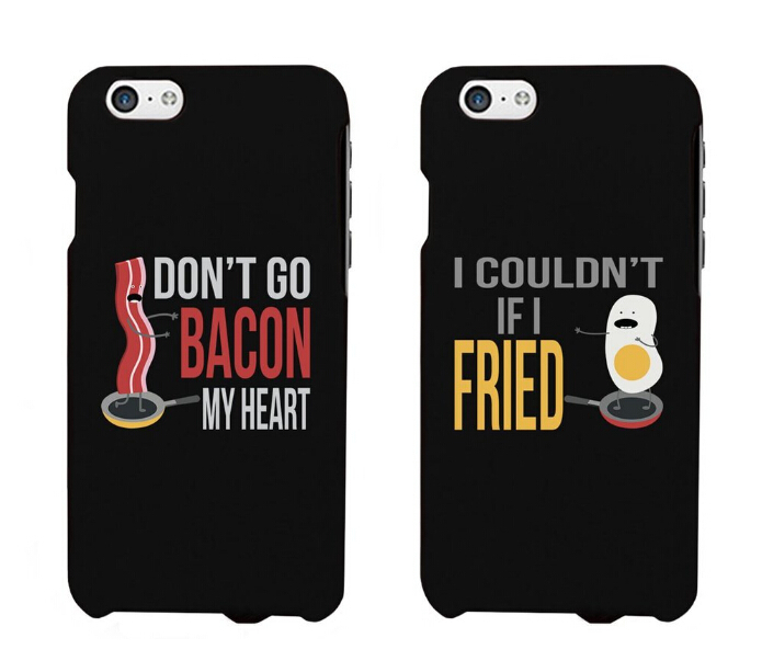 Couple cases for boyfriend and girlfriend Funny Bacon and ...