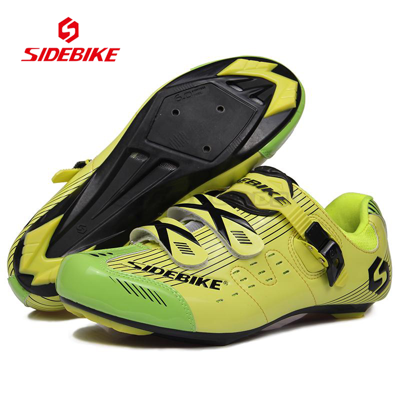 SIDEBIKE Professional Men Women Cycling Shoes Road Bike Racing Sports Self-Locking Sports Ciclismo Shoes Riding Bicycle Athletic sidebike mens road cycling shoes breathable road bicycle bike shoes black green 4 color self locking zapatillas ciclismo 2016