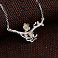 GZ Flower Pendant Necklace for Women 45cm Chain 100% 925 Silver Accessorice S925 Thai Solid Silver Jewelry Making Necklaces