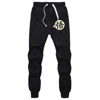 Casual Funny Print Dragon Ball Goku Mens Pants Cotton Autumn Winter Gray Men Joggers Sweatpants Plus