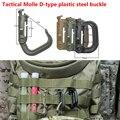 Tático Molle D-tipo fivela de aço plástico saco molle ITW Nexus Grimlock anel D fivela d rápida fivela gancho cabide