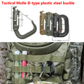 Tactical Molle D-type plastic steel buckle ITW Nexus Grimlock D buckle D ring quick molle bag buckle hook hanger