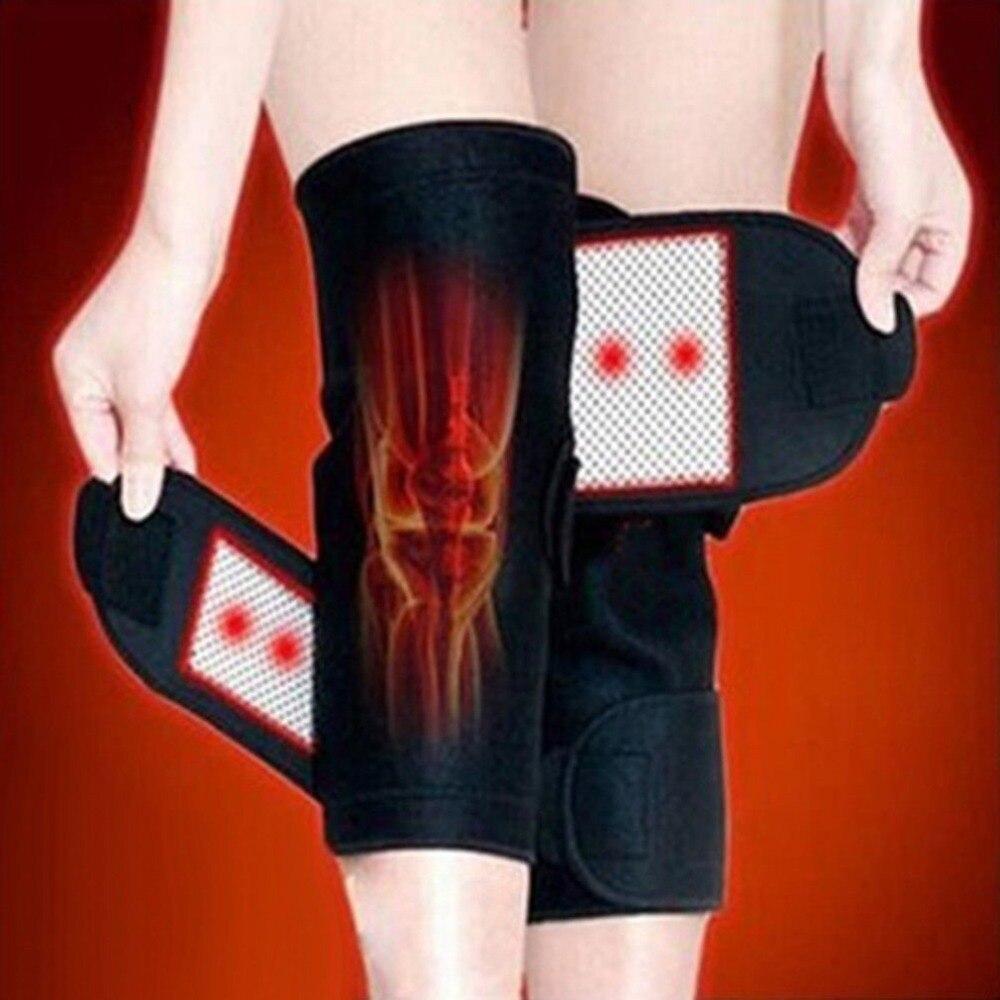 1 pc Auto Chauffage Genouillères Magnétique Tourmaline Thérapie Support Genou Brace Soulagement de La Douleur De Protection Soins de Santé de Massage du genou