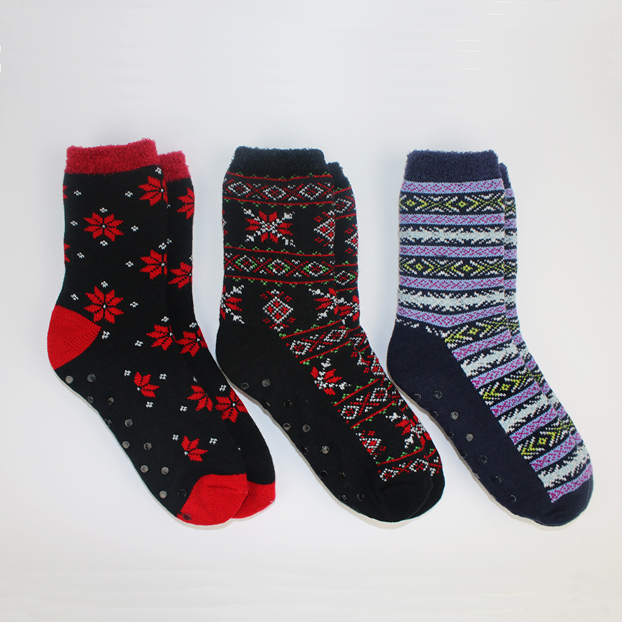 Nylon Lined Men Indoor Socks PVC Despensing Brand Winter Compression Soft Warm Coolmax Home Male Cosy Dual Layer Crew Socks 40