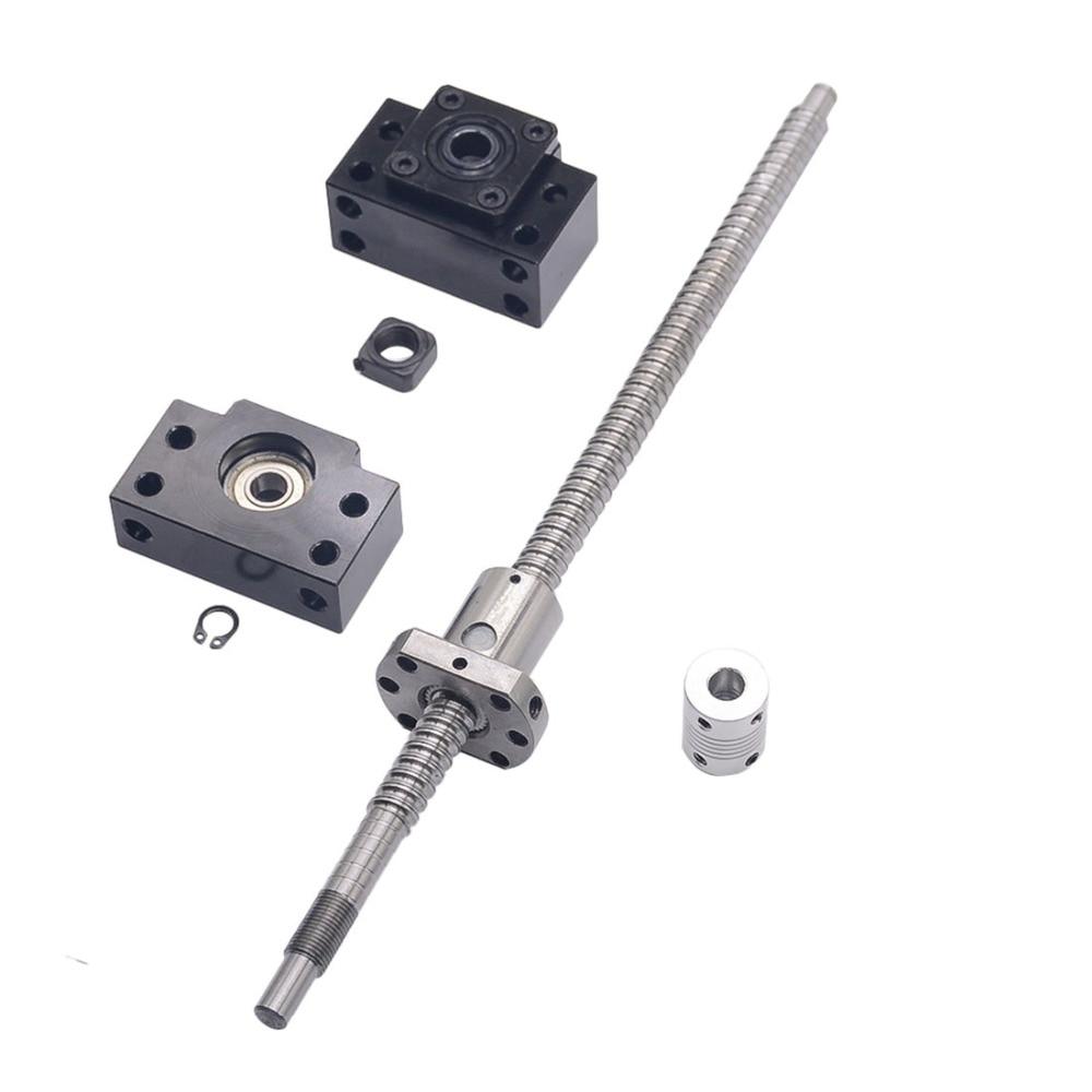 SFU1204 ensemble: SFU1204 laminé à vis à billes C7 avec fin usiné + 1204 écrou à billes + BK/BF10 support d'extrémité + coupleur pour CNC pièces RM1204 - 4