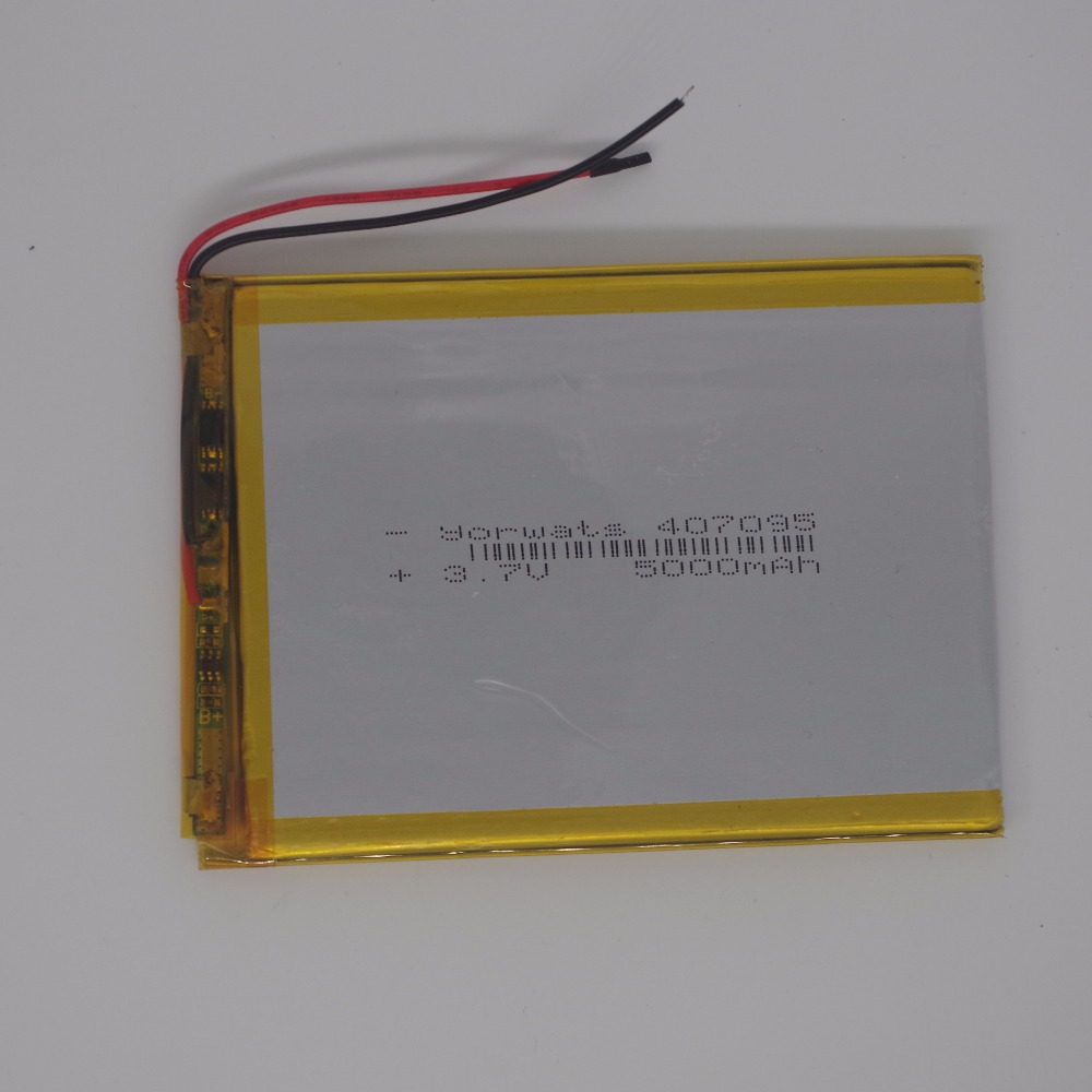 3.7V 5000mah polymer lithium ion battery Li-ion battery for tablet pc 7 inch MP3 MP4 407095 047095 replace 357095 High capacity taipower onda 8 inch 9 inch tablet pc battery 3 7v 6000mah 3 wire 2 wire lithium battery
