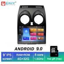 EKIY 2 Din Автомобильный мультимедийный плеер для Nissan Qashqai 2010 Dualis 2007-2014 gps навигация авто радио головное устройство Android 9,0 4G + 32G