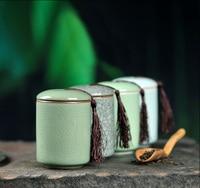 Herbata Caddy Ceramiczne Zbiornik Do Przechowywania Żywności Pojemnik Mini Przenośne Puszki Na Ziarna Kawy